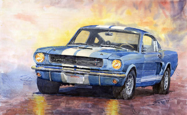 Wall Art - Painting - Ford Mustang Gt 350 1966 by Yuriy Shevchuk