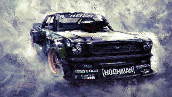 Painting - Ford Mustang Hoonicorn - 01  by Andrea Mazzocchetti