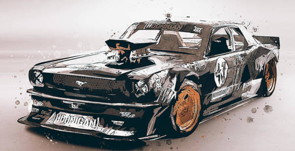 Painting - Ford Mustang Hoonicorn - 02 by Andrea Mazzocchetti