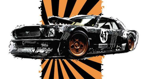 Digital Art - Ford Mustang Hoonicorn - 05 by Andrea Mazzocchetti