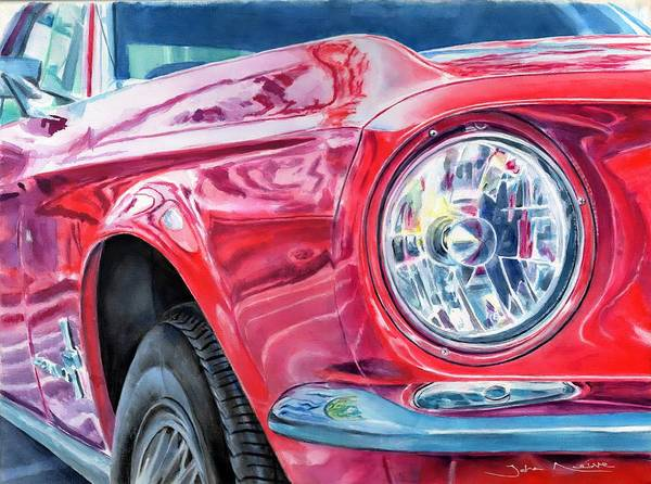 Painting - Ford Mustang by John Neeve
