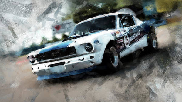Painting - Ford Mustang Rtr, 1966 - 33 by Andrea Mazzocchetti