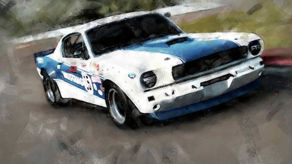 Painting - Ford Mustang Rtr, 1966 - 34 by Andrea Mazzocchetti
