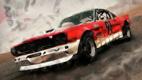 Painting - Ford Mustang Rtr, 1966 - 39 by Andrea Mazzocchetti