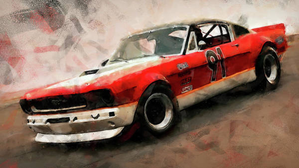 Painting - Ford Mustang Rtr, 1966 - 40 by Andrea Mazzocchetti