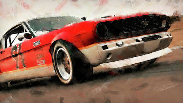 Painting - Ford Mustang Rtr, 1966 - 41 by Andrea Mazzocchetti