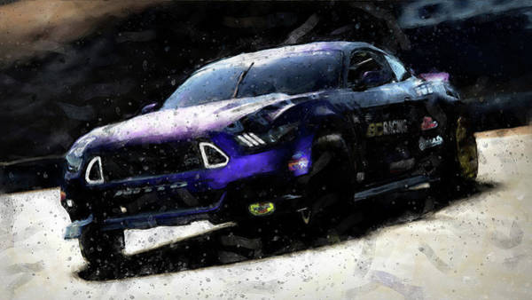 Painting - Ford Mustang Rtr, 2017 - 40 by Andrea Mazzocchetti