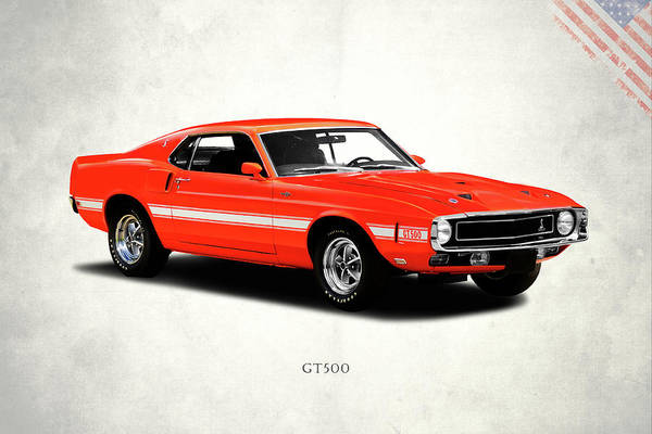 Wall Art - Photograph - Ford Mustang Shelby Gt500 1969 by Mark Rogan