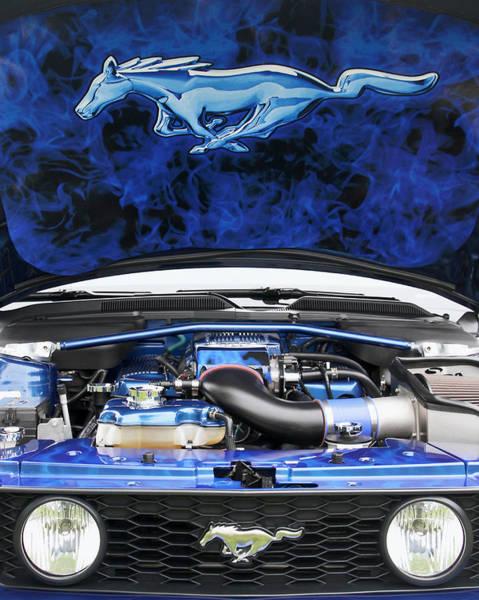 Photograph - Ford Mustang Under The Hood by Bob Slitzan