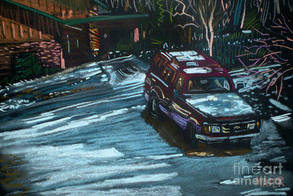 Ford Drawing - Ford Range In The Snow by Donald Maier