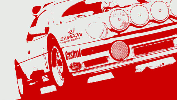 Painting - Ford Rs200 Evo - 2 by Andrea Mazzocchetti