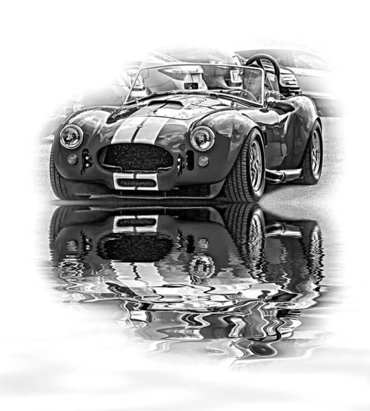 Ac Cobra Wall Art - Photograph - Ford/shelby Ac Cobra - Reflection Bw by Steve Harrington