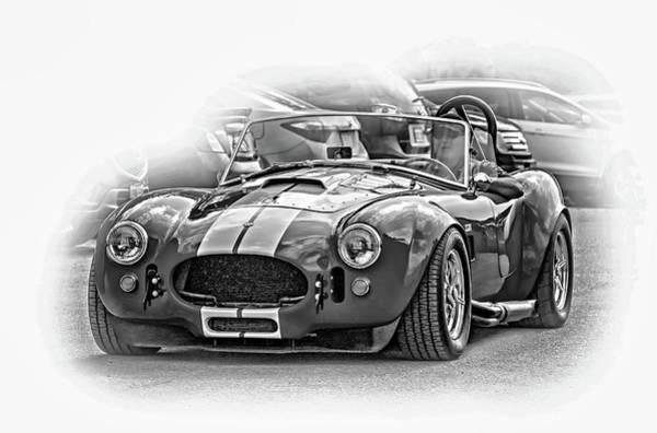 Ac Cobra Wall Art - Photograph - Ford/shelby Ac Cobra - Vignette Bw by Steve Harrington