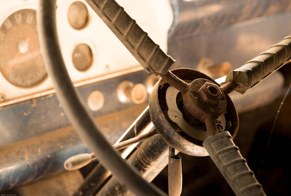 Wrecking Yard Photograph - Ford Steering Wheel by Kevin Felts