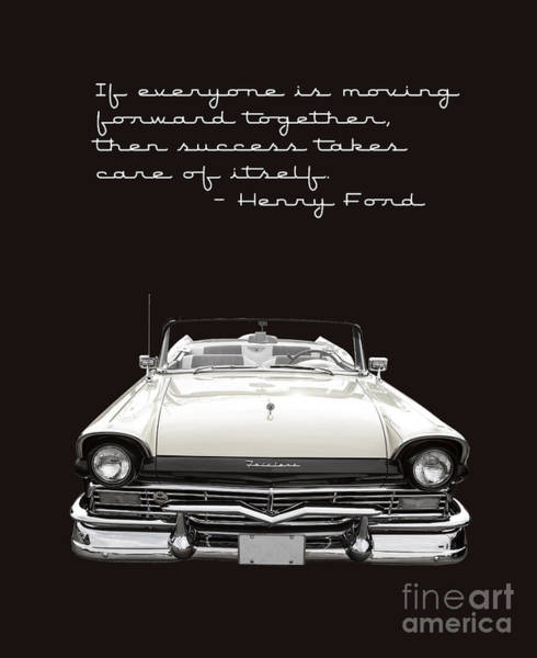Ford Fairlane Photograph - Ford Success Poster by Edward Fielding