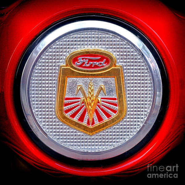 Wall Art - Photograph - Ford Tractor Badge by Olivier Le Queinec