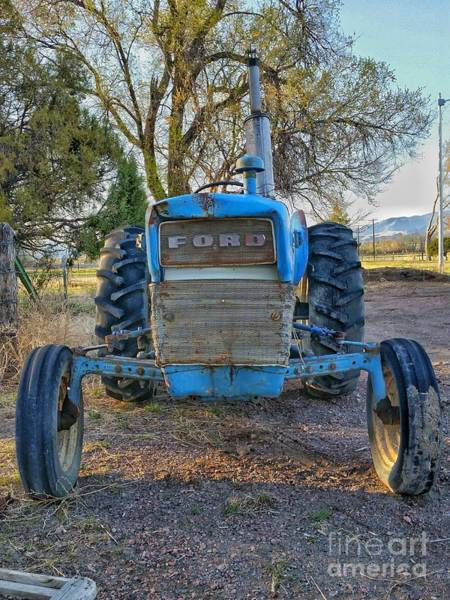 Photograph - Ford Tractor by Tony Baca