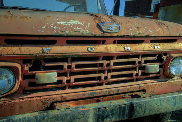 Photograph - Ford Truck Hood by Jerry Gammon