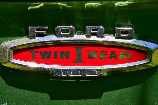 Photograph - Ford Twin I Beam by Lisa Wooten