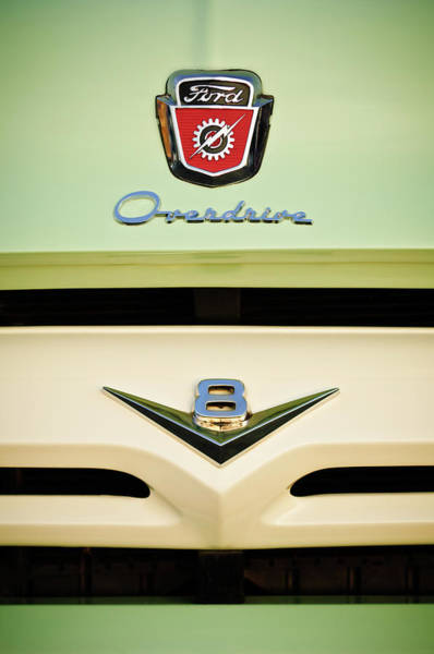 Photograph - Ford V8 Pickup Emblem by Jill Reger