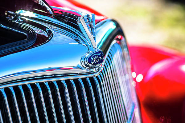 Photograph - Ford V8 by Van Sutherland