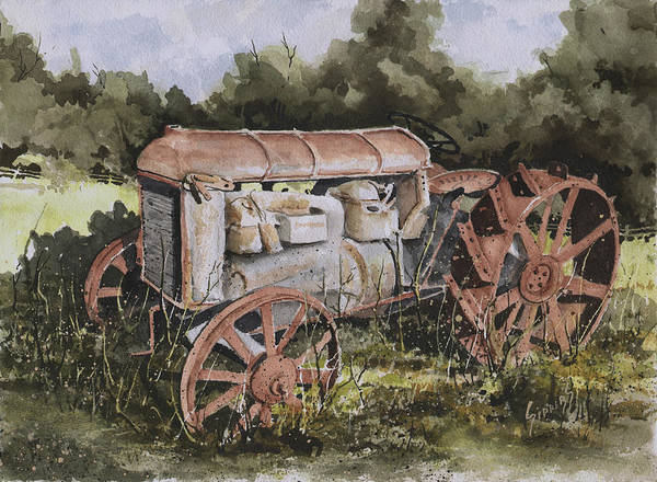 Machinery Painting - Fordson Model F by Sam Sidders