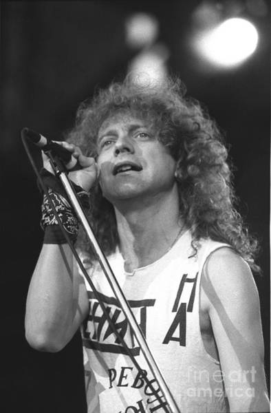 Vocalist Photograph - Foreigner Singer Lou Gramm by Concert Photos