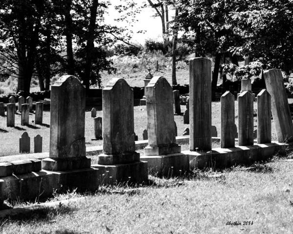 Wall Art - Photograph - Foreside Cemetery 2 by Dick Botkin