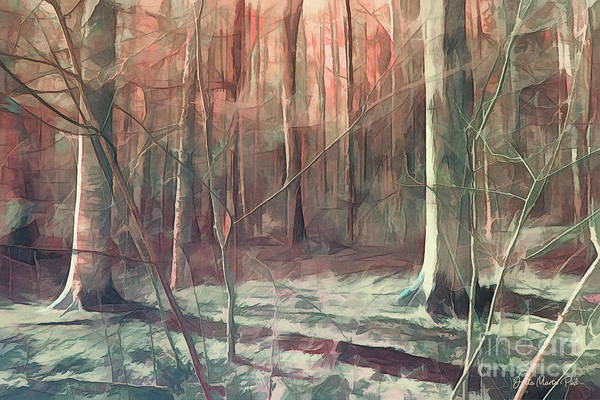 Digital Art - Forest After Winter by Jutta Maria Pusl