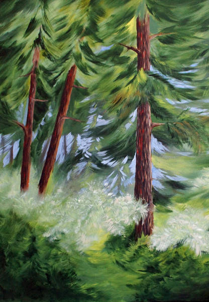 Painting - Forest Alive by Joanne Smoley