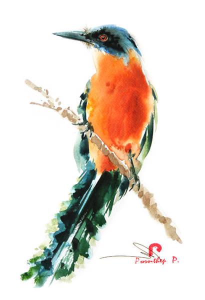 Birdman Painting - Forest Bird by Pornthep Piriyasoranant