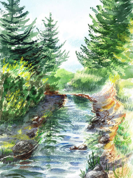 Painting - Forest Creek by Irina Sztukowski