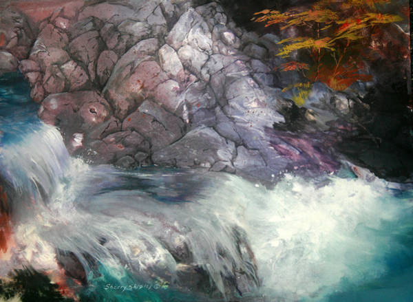 Painting - Forest Creek by Sherry Shipley