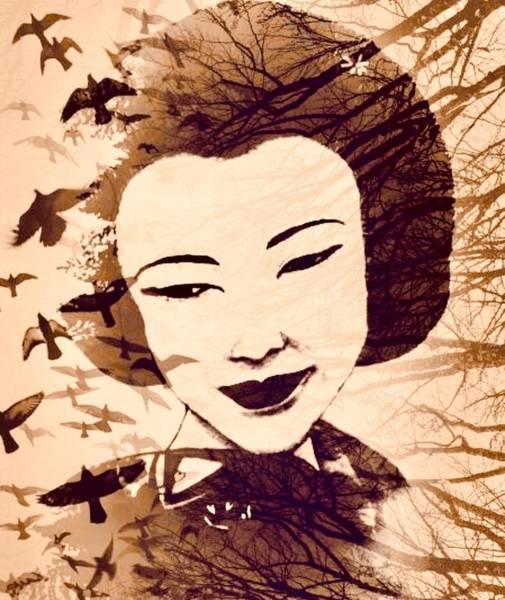 Geisha Mixed Media - Forest Dancer by Elizabeth Hoskinson