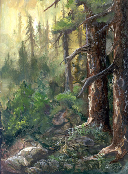 Painting - Forest Deep by Sherry Shipley