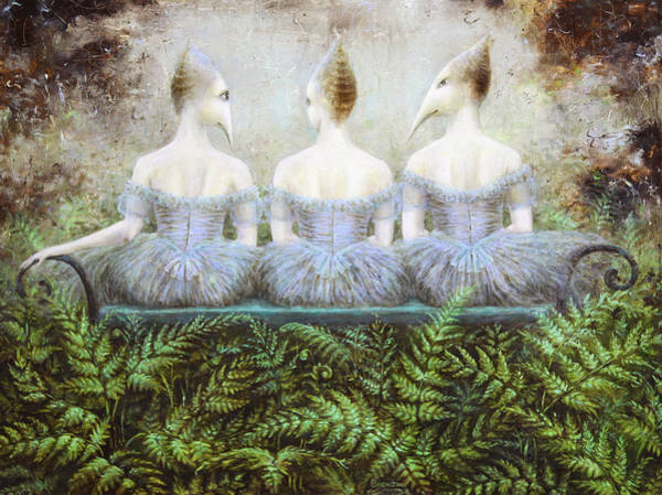 Wall Art - Painting - Forest Divas by Lolita Bronzini