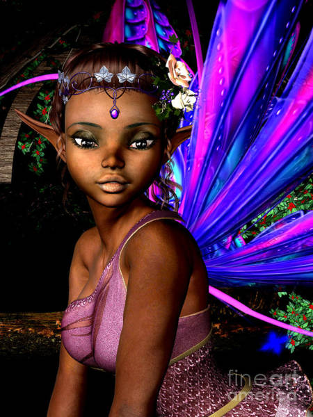 African American Woman Wall Art - Digital Art - Forest Fairy by Alexander Butler
