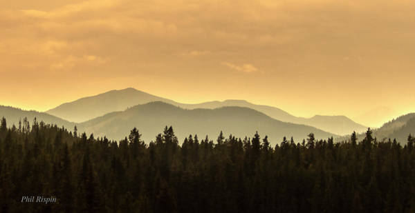 Photograph - Forest Fire Haze Over The Oldman by Philip Rispin