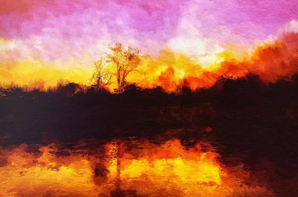 Painting - Forest Fire by Mark Taylor