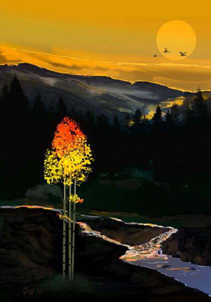 Rockies Digital Art - Forest Flame by J Griff Griffin