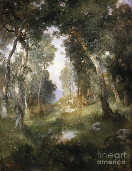 1918 Painting - Forest Glade by Thomas Moran