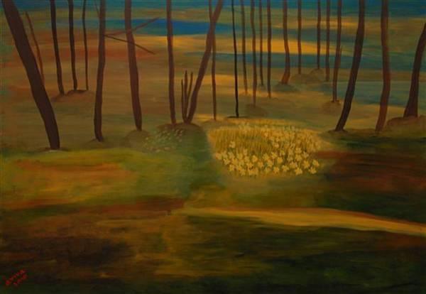 Wall Art - Painting - Forest In Green by Aviva Moshkovich