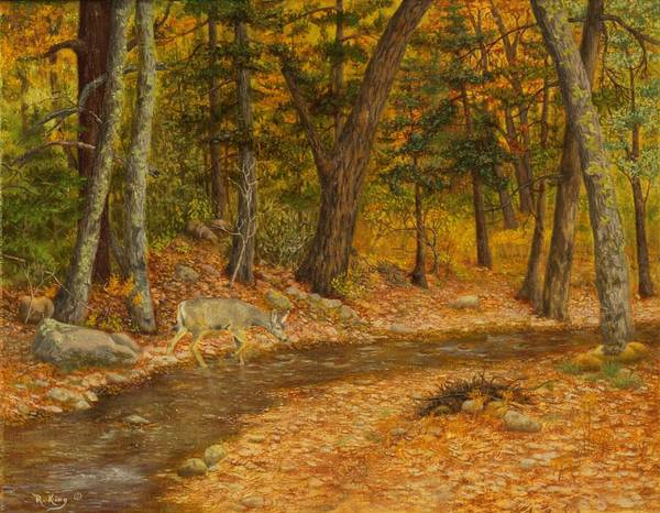 Wall Art - Painting - Forest Life by Roena King