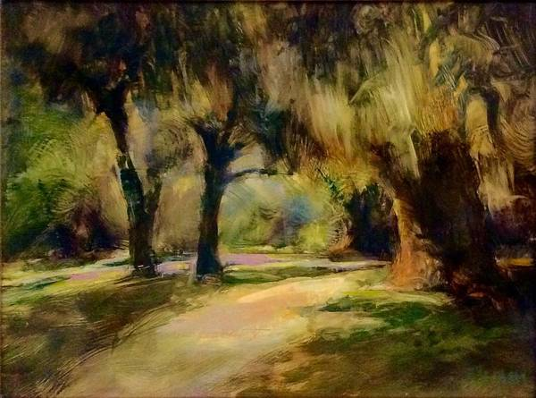 Penetrate Painting - Forest Light by Jef Sturm