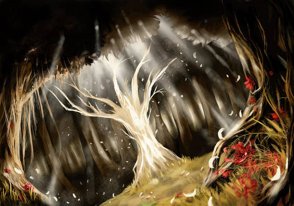 Color Digital Art - Forest by Maye Loeser