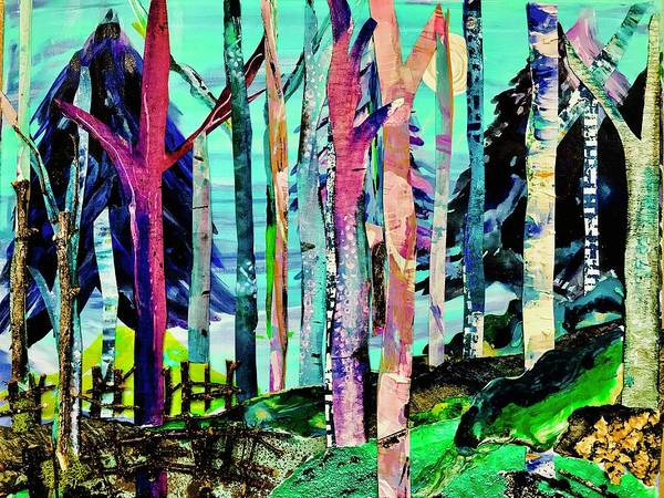 Wall Art - Mixed Media - Forest Of Evening Whimsy by Bridget Weber