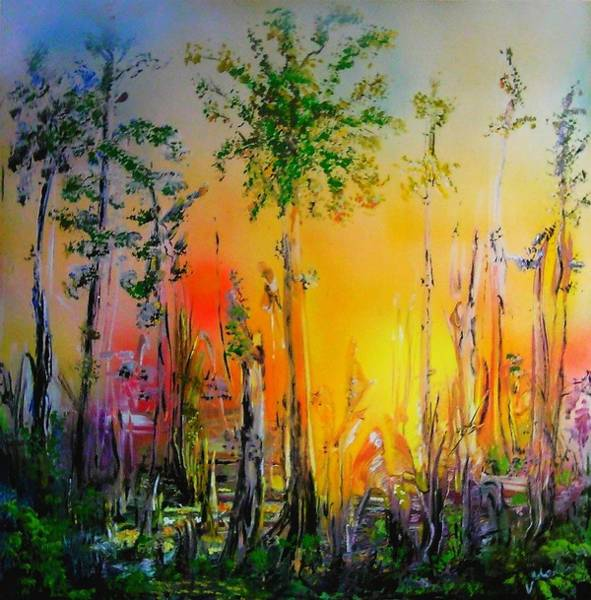 Wall Art - Painting - Forest Of Souls by Nandor Molnar