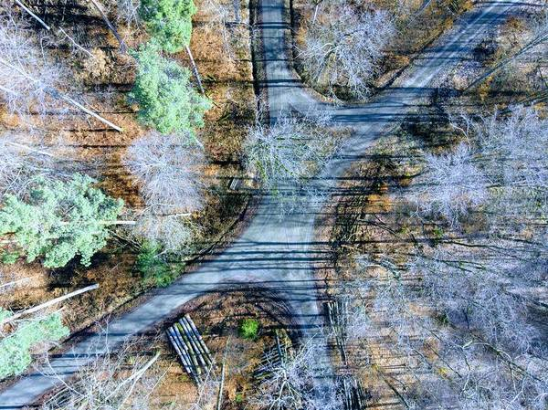 Photograph - Forest Path From Above Cool Drone Photo by Matthias Hauser