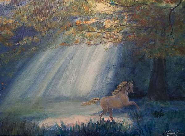 Wall Art - Painting - Forest Pony by Janne Henn