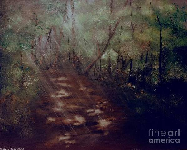 Painting - Forest Rays by Denise Tomasura